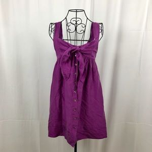 Elie Tahari silk sundress pockets button front 2